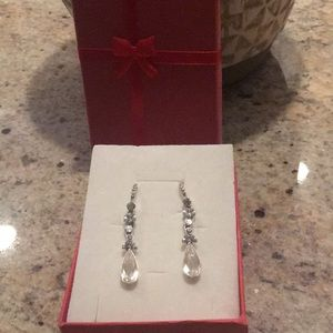 Crystal hanging earrings worn once